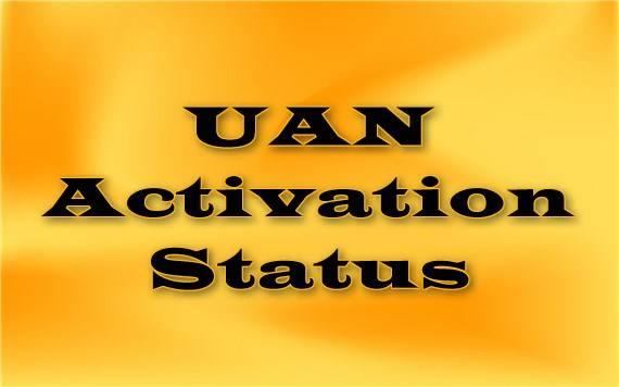 UAN activation status